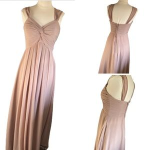 Azazie pale Pink Prom Bridesmaid Maxi Gown Dress